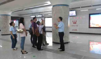 中装协公装专家组走进武汉市轨道交通8号线
